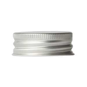 Aluminium screw cap 38-485, silver / gold, rolled edge