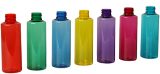 coulored PET bottles