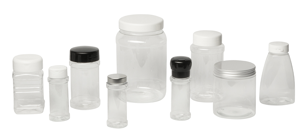 Header PET Spice Jars